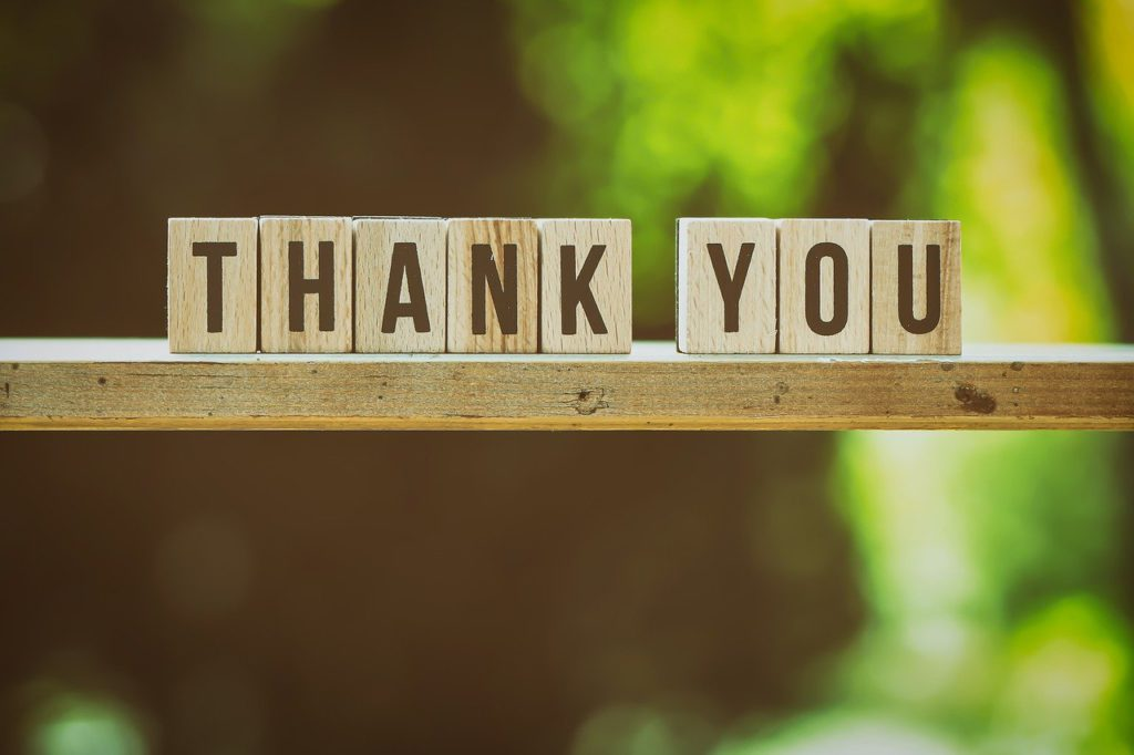 『ありがとう』の気持ちを伝える画像